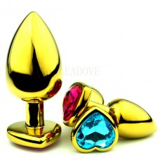 Heart Shaped Stainless Steel Anal Butt Plug Small