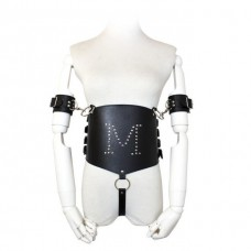 Bdsm Bondage Leather Bodysuit Lingerie Arm Cuffs