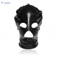 Head Bondage Hood Sex Mask Black Red